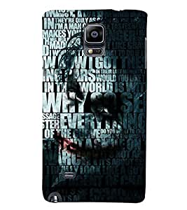 PRINTSWAG TYPOGRAPHY Designer Back Cover Case for SAMSUNG GALAXY NOTE 4 DUAL