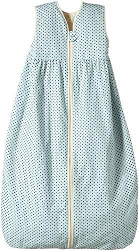 Lana Natural Wear Unisex - Baby Schlafsack Plüsch Punkte, Gepunktet, Gr. 100, Blau (Punkte Blue Air-Ombre Blue 9307)