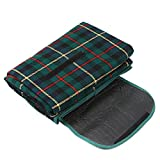 TOOGOO(R) 200x150cm Waterproof Rug Blanket Outdoor Beach Camping Picnic Mat Plaid Green