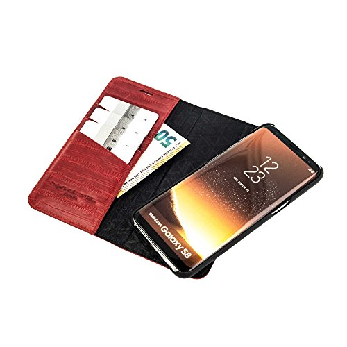 "QIOTTI >            APPLE iPHONE 6 PLUS / 6S PLUS / 7 PLUS (5,5"")            < incl. PANZERGLAS H9 HD+, RFID Schutz, 2-in-1 Booklet mit herausnehmbare Schutzhülle, magnetisch, 360 Grad Aufstellmöglichkeit, Wallet Case Hüll ROT"