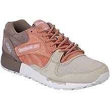 Reebok - Zapatillas de Piel para hombre Multicolor Rustic Clay / Sandy Taupe (Mehrfarbig)