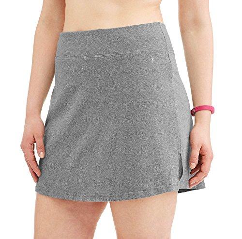 Danskin Damen Active Wear Sportlicher Rock aus Baumwoll-Mischgewebe mit integrierten Shorts - Grau - 4X (26/28W) -