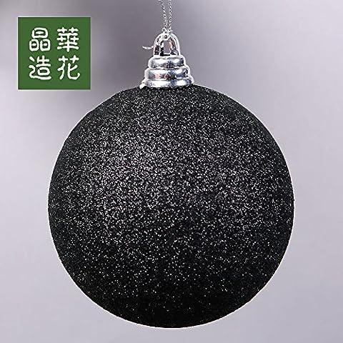 3-28cm high-end nero palla di Natale albero di Natale ornamento Sfera decorativa,150mm nero opaco sfera di polvere