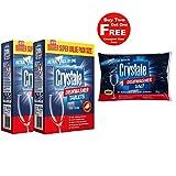 #9: Crystale Dishwasher Tablets 100's Pack of 2 with Free Crystale Dishwasher Salt 2kg Worth Rs.345