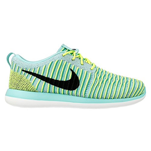 Nike Roshe Two Flyknit (Gs), Scarpe da Corsa Donna Turquesa (Hyper Turq / Black-Volt-Clear Jade)