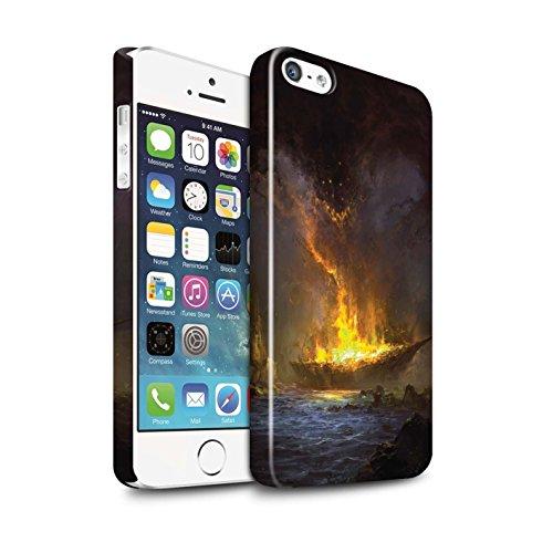 Offiziell Chris Cold Hülle / Glanz Snap-On Case für Apple iPhone 5/5S / Apokalypse Muster / Gefallene Erde Kollektion Schiffswrack