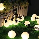 SALCAR Cadena de Luces LED Colores, de 5 Metros y 50 farolillos. Decoración para Navidad, Fiestas y Celebraciones (Blanco cálido)