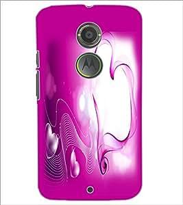 PrintDhaba Heart D-2161 Back Case Cover for MOTOROLA MOTO X2 (Multi-Coloured)