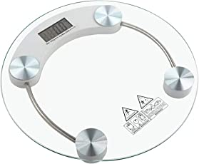 Aliyan Shop Ultra Modern Personal Digital Bathroom Body Weighing Scale (Rounded)