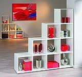Links - Think Design, Libreria bianca a scala a dieci vani bianco  L139h144p33cm