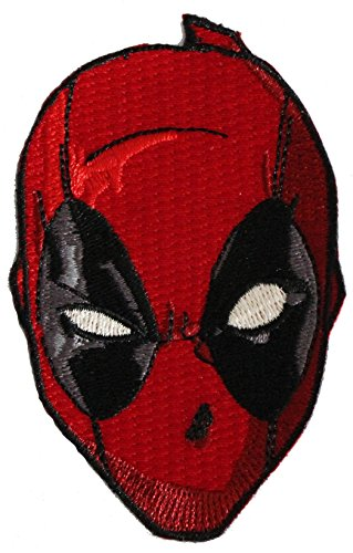 DEADPOOL HEAD, Officially Licensed, Iron-On / Sew-On, Embroidered PATCH (Betsy Ross Hat)