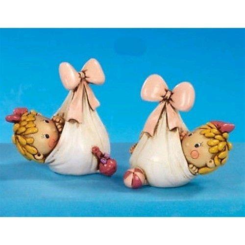 Bomboniere Disney resina neonata in foulard 8 cm