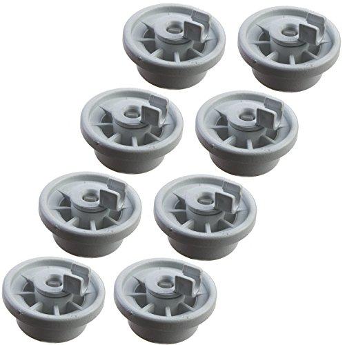 8 Korbrollen Rollen passend für Diverse Spülmaschine von Bosch, Siemens, Constructa, Neff etc. - Ersatz tfür Teile-Nr. 00165314 165314 für unteren Geschirrkorb