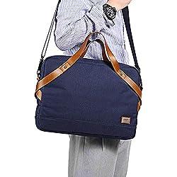 Sac d'ordinateur portable Sac messenger pour hommes, 15,6 pouces pour ordinateur portable Sac à bandoulière Canvas Business Briefcase Grand sac à bandoulière Vintage Satchel College Bag Vintage en cui