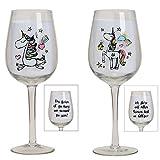 Weingläser Set Einhorn Glas für Rotwein Oder Weisswein 2 Stück mit Gravur als Geschenk