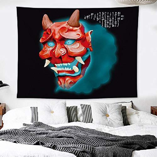 Meditationsmatte, Hohe Qualität, Brokattattoo Shop Persönlichkeit Kreative Samurai Hängen Bar Wanddekoration Leben 150 * 200Cm