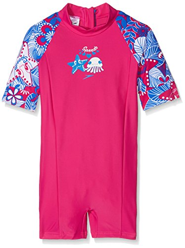 asy Flowers Essential All in One Suit, Electric Pink/Neon Blue /White, 3 Jahre (All In One Badeanzüge Für Mädchen)