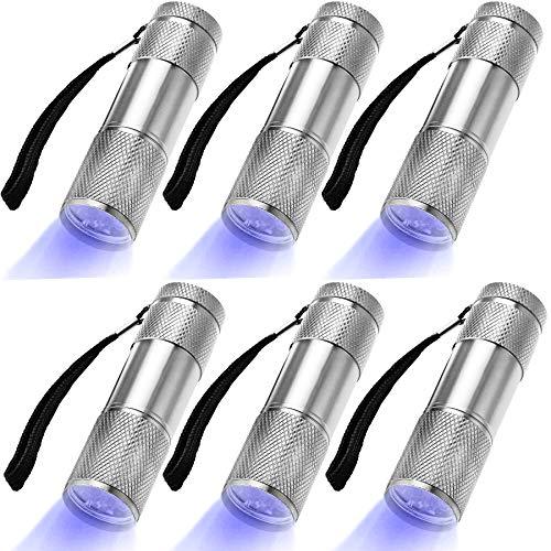 LEAGY 6 Pack Linterna UV Luz Negra