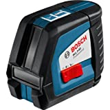 Bosch GLL 2-50 - Nivelador láser (Alcalino, 1,5V, 450g) Negro, Azul, Rojo