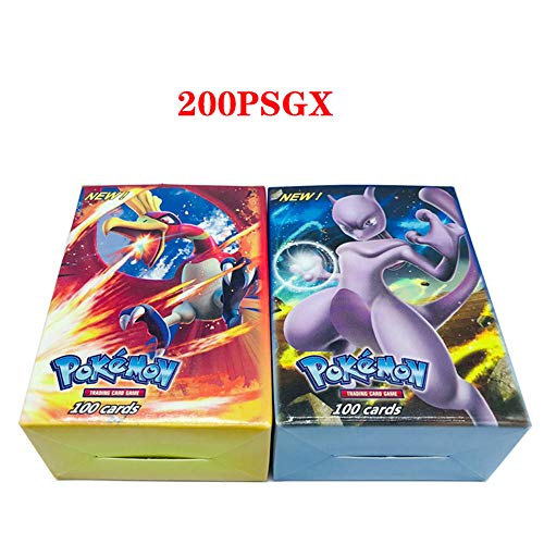 zyl 200 Pcs Pokemon GX EX Pokemon-Karte Magischer Elf,MEGA Energy Trainer Karten ,Flash Card, Sammelkarte, Puzzle Fun Card Game,Flash-Karte,200GX-189Gx+11Trainer (Karten Große Ex Pokemon)
