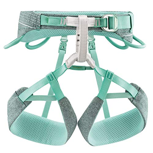 PETZL Unisex- Erwachsene Harness SMALL Damen Klettergurt Selena Blau/Grau S, Mehrfarbig, S