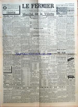 FERMIER (LE) [No 94] du 24/11/1955 - MARCHES AUX GRAINS GRAINS FARINES GRAINES FOURRAGERES