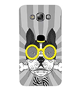 For Samsung Galaxy E5 (2015) :: Samsung Galaxy E5 Duos :: Samsung Galaxy E5 E500F E500H E500Hq E500M E500F/Ds E500H/Ds E500M/Ds cute dog ( cute dog, dog, dangerous dog, pink background ) Printed Designer Back Case Cover By TAKKLOO