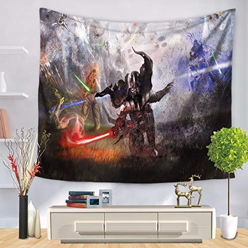 ZGQQQ Star Wars Black Warrior Print Wandbehang Tischdecke Tapisserie Bunte Yoga Matte Bettwäsche Pad Indischen Wand Dekor Mandala Tapisserie 130 * 150 cm 9