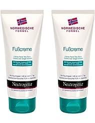 Neutrogena Norwegische Formel Fußcreme – Feuchtigkeitsspendende Fußpflege für trockene Füße – 24h Feuchtigkeit – 2 x100ml
