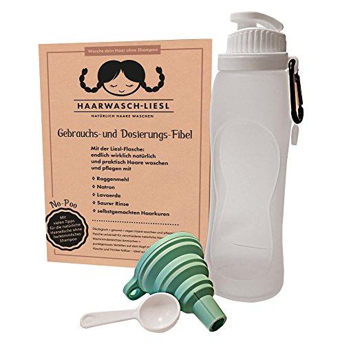 Liesl-Haarwaschflasche: endlich chemie-frei Haarewaschen mit Roggenmehl,Lavaerde,Natron,Saurer Rinse