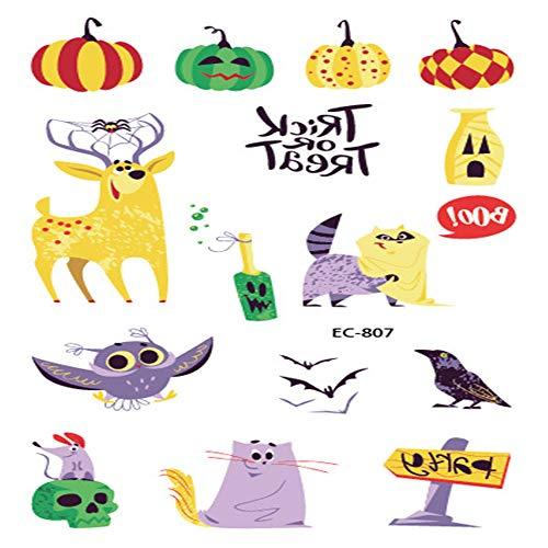 zgmtj Halloween lustige Cartoon Spaß Tattoo Aufkleber EC-807 120 * 75mm