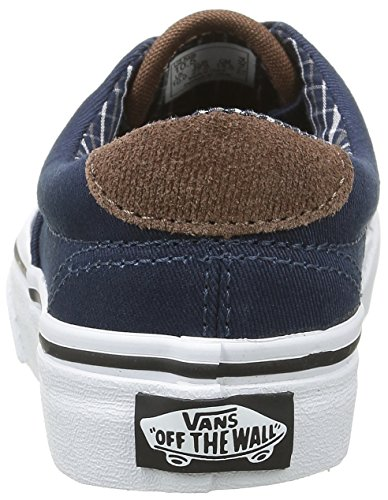 Vans Unisex-Kinder Era 59 Low-Top Blau (Cord & Plaid dress blues/true white)
