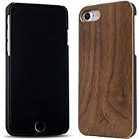 Woodcessories - EcoCase Classic - Premium Design Case, Cover, Hülle für das iPhone aus FSC zert. Holz (iPhone 7/ 8, Walnuss/ schwarz)