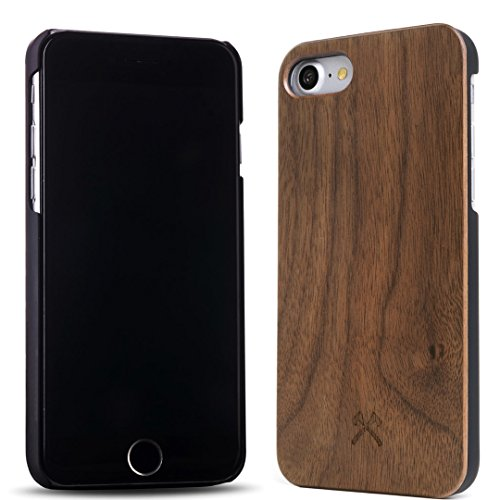 Woodcessories - EcoCase Classic - Premium Design Case, Cover, Hülle für das iPhone aus FSC zert. Holz (iPhone 7/ 8, Walnuss/ schwarz) -