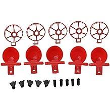 5 Piezas Rojo plástico Beber Potable la Agua de Aves Copas Pollo Gallina automática Bebedor