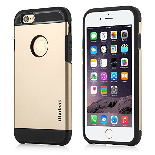 iPhone 6S Coque - iHarbort® armure ULTRA iPhone 6 6S Coque Case silicone Etui avec double couche choc Absorbion fonction iPhone 6 Cover - meilleur iPhone 6S Case (argent) Or