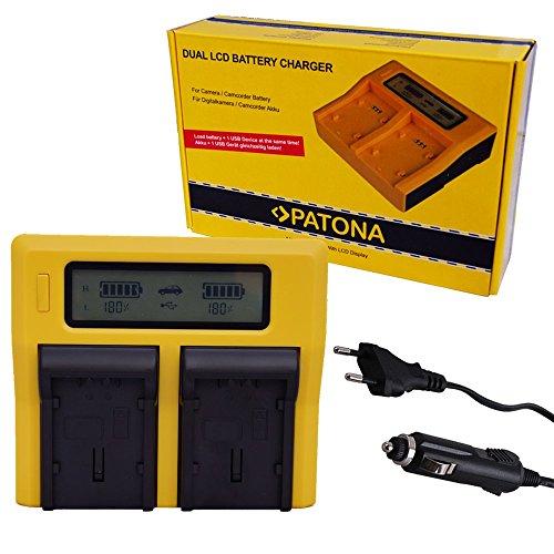 PATONA DUAL LCD Cargador para CANON EOS 400D 400 D NB-2LH NB.