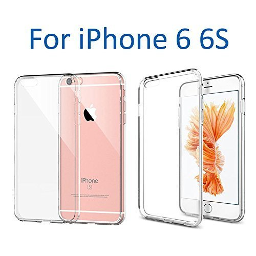VersionTech Funda para telefono funda para iPhone 6 6S, funda para Apple iPhone 6/6S funda ultra fino suave TPU transparente a prueba de golpe, caida resistente a arañazos forro para iPhone 6 iPhone 6S 4.7 pulgadas.