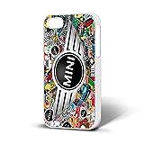 Cover per cellulare, con stemma Mini Cooper, compatibile con iPhone 6, WHITE CASE, iPhone 6