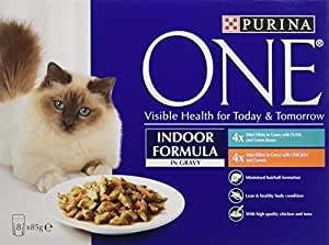Purina one indoor formula with tuna and chicken in gravy for Purina game fish chow