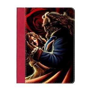 Treasure Design Beauty and the Beast Cartoon Apple iPad 2, iPad 3 (New iPad),IPad 4 Red Smart Case Covers