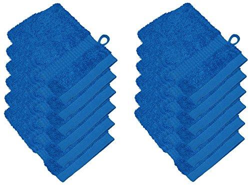 starlabels Serviettes Disponible en 15 couleurs et 5 dimensions doux saugstark 500 g/m², 100% coton, Öko Tex, Coton, bleu, 15 cm x 21 cm