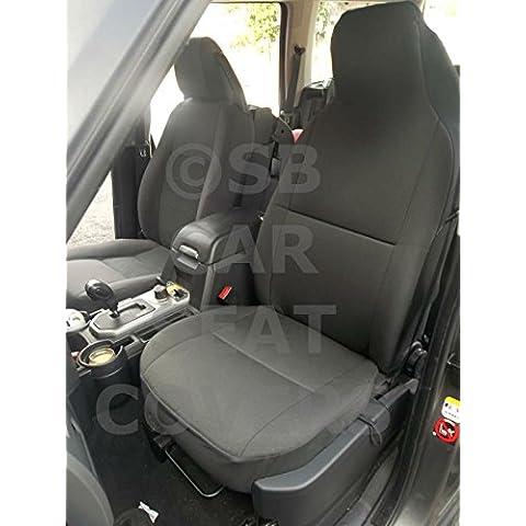 Toyota Hilux Asiento de coche cubre Rossini Antracita II–Dos frentes Asiento Solo
