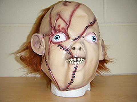 CHUCKY ZOMBIE HORROR LUXUS HALLOWEEN VOLLER KOPF KOSTÜM KOSTÜM MASKE MONSTER (Chucky Maske Kostüm)