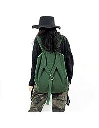 Preisvergleich für Axiba Doppelte Schultertasche Lady Rucksack Frau Doppel Rucksack Baumwolle Hanf Doppel Schulter Umhängetasche