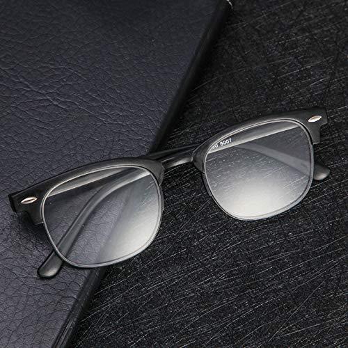 CFLFDC Sonnenbrillen Alte Helle Verschleißfeste Brille Alten Mann Vollen Rahmen Männlichen Alterungsspiegel Alte Lichtgläser Scrub Black + 300 Grad Send Box Empfehlung 66-70