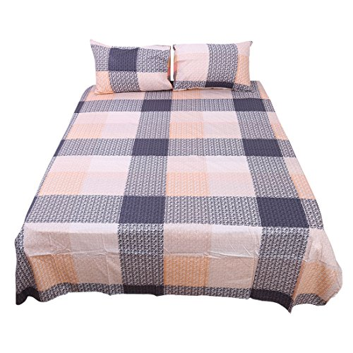 sourcingmap® 4 Teilig Schlafzimmer Baumwolle Soft Bettwäsche Kissenbezug Bettbezug (Schlafzimmer Twin-size-schlafzimmer-set)