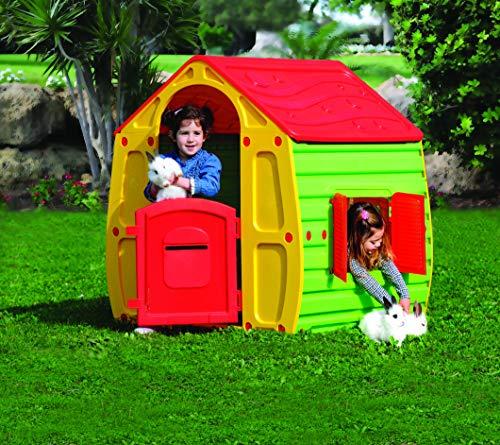 KitGarden - Caseta Infantil Juegos Jardin, 102x90x109 cm,...