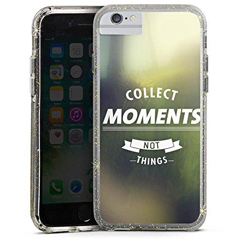 Apple iPhone 8 Bumper Hülle Bumper Case Glitzer Hülle Moment Sayings Phrases Bumper Case Glitzer gold