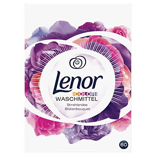 Lenor Colorwaschmittel Pulver Strahlendes Blütenbouquet, 3.9 kg, 1er Pack (1 x 60 Waschladungen)